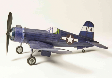 Corsair Vought F4U Rubber Powered Flying Scale Balsa Wood Model Kit Like Keil Kraft